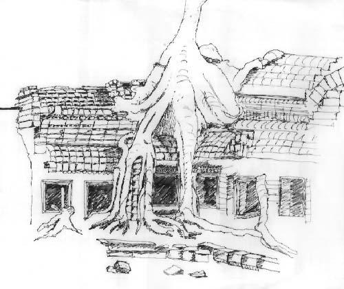 Cambodia Angkor Wat Drawing Angkor Wat Cambodia